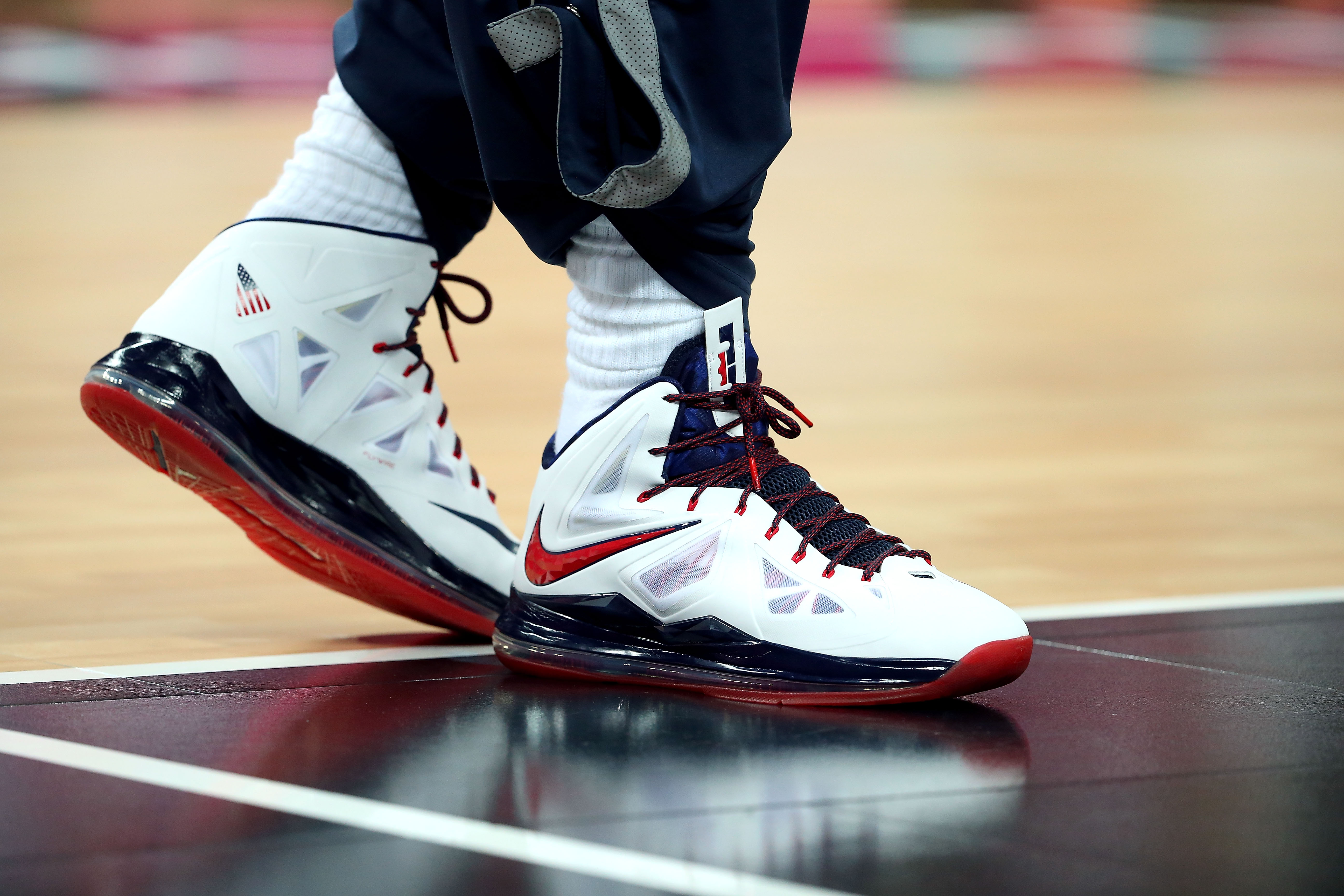 signature shoe during gold medal game