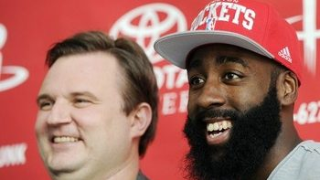 76ers president Daryl Morey and Rockets star James Harden