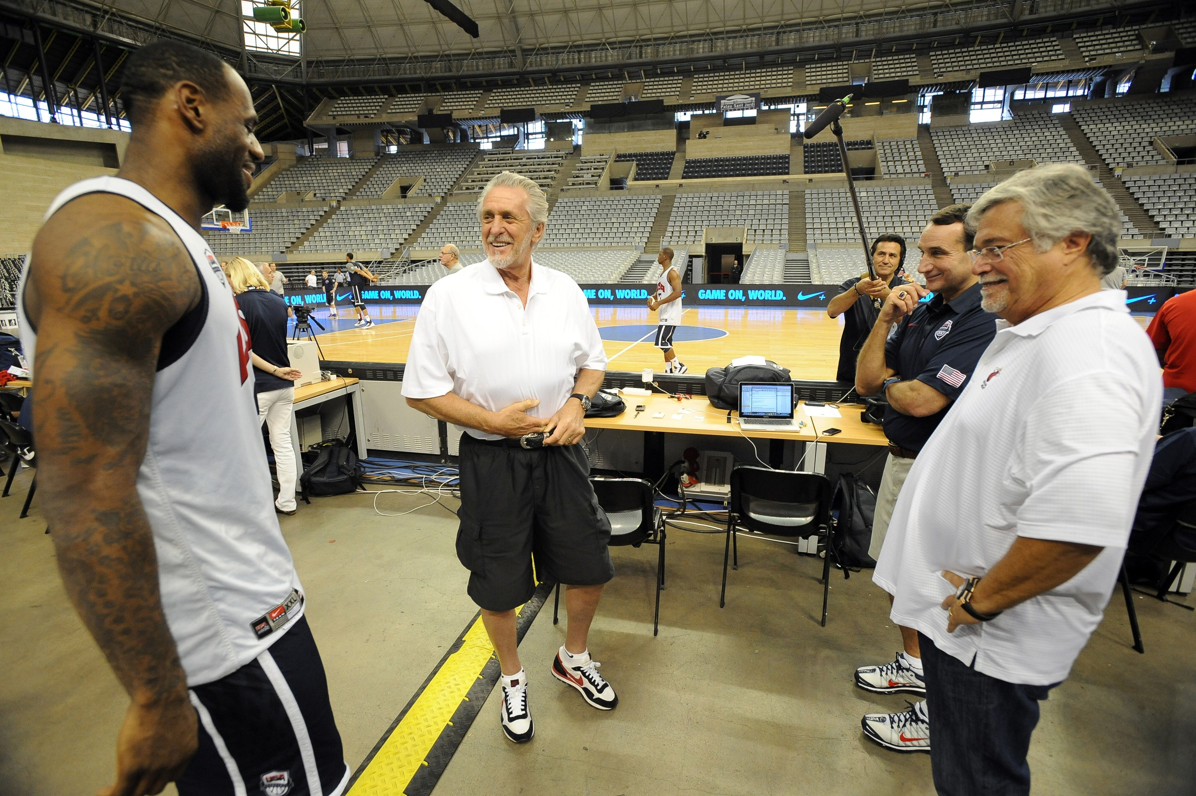 LeBron James, annoyed with Micky Arison