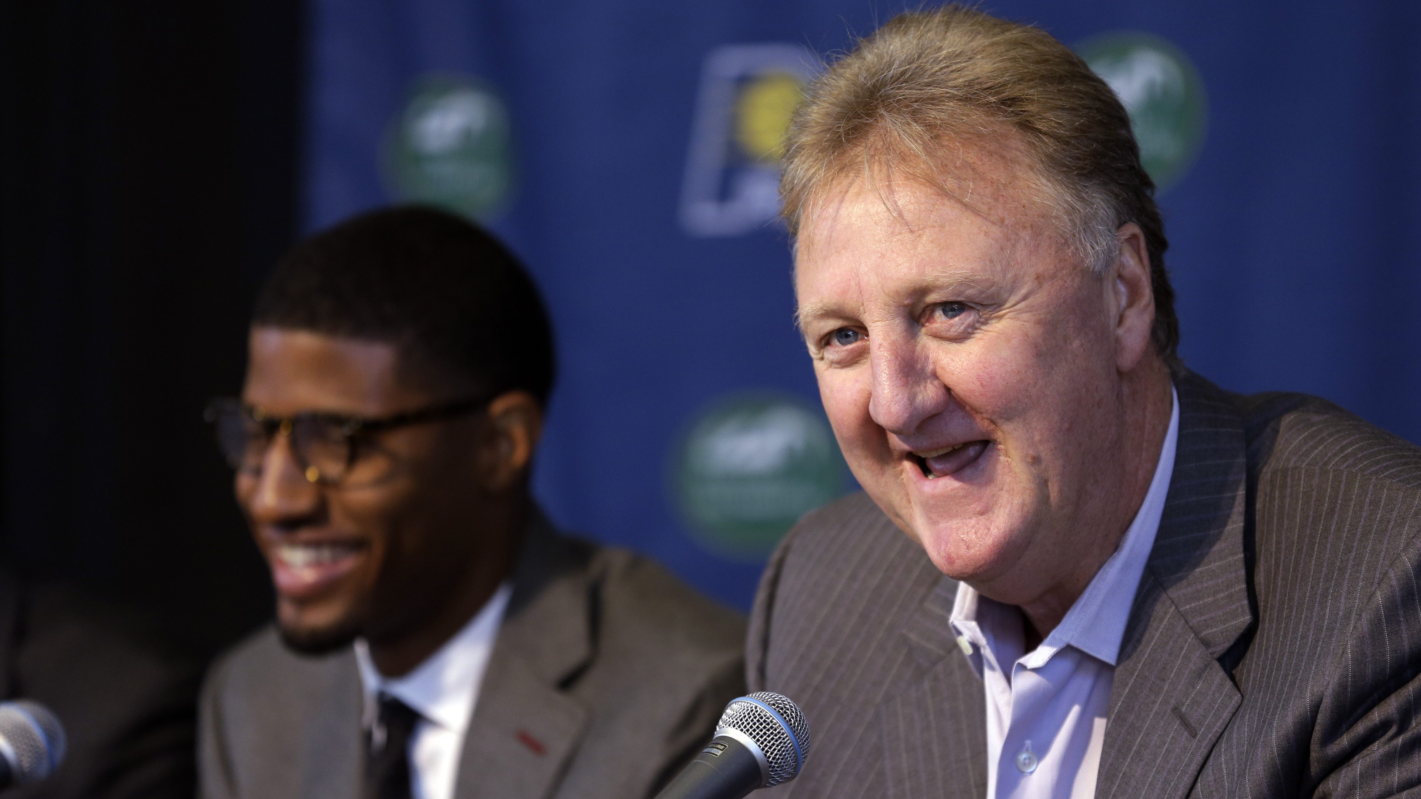 Rumor: Paul George was indicating Pacers fans should boo Larry Bird