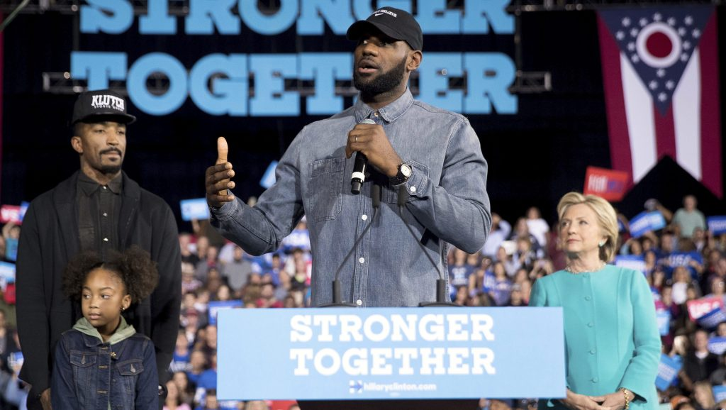 lebron james hillary clinton