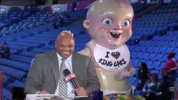 Charles Barkley Hung Out With King Cake Baby To Celebrate