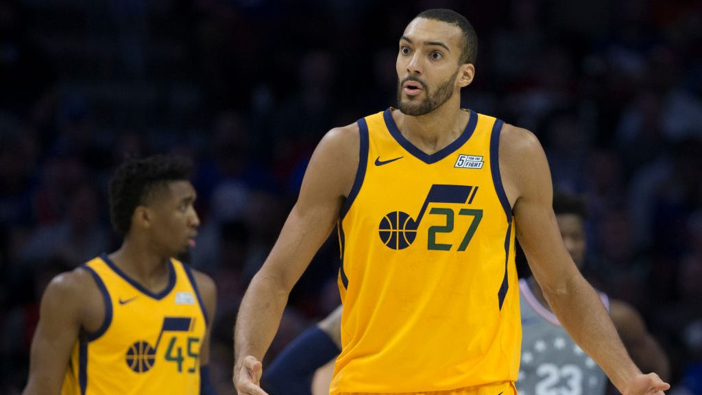 Jazz stars Rudy Gobert and Donovan Mitchell