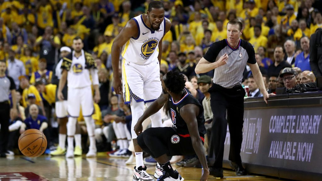 Kevin Durant, Patrick Beverley ejected