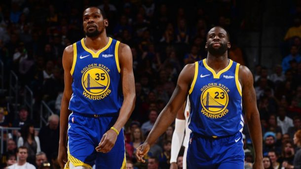 Kevin Durant and Warriors forward Draymond Green