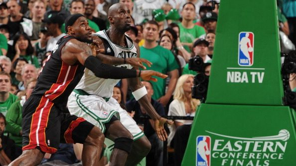 Kevin Garnett and LeBron James