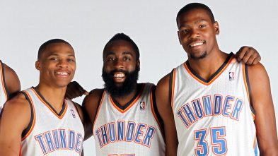 Russell Westbrook, James Harden, Kevin Durant