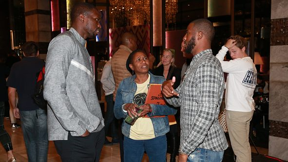 Michele Roberts, Chris Paul and Luol Deng