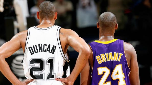 Basketball Hall of Fame nominees Tim Duncan and Kobe Bryant