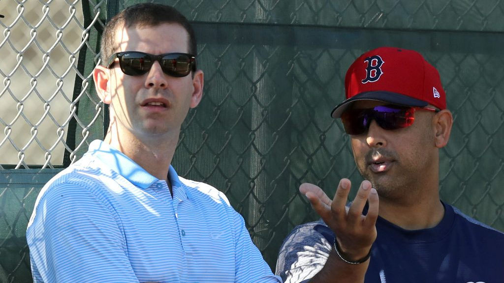 Celtics coach Brad Stevens and former Red Sox manager Alex Cora