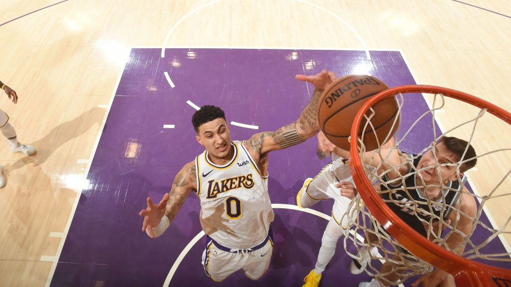 Lakers forward Kyle Kuzma and Kings wing Bogdan Bogdanovic