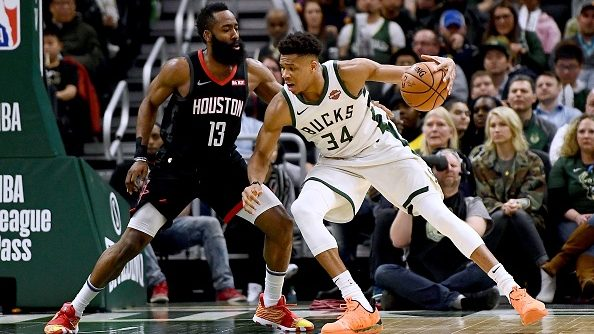 Giannis Antetokounmpo and James Harden