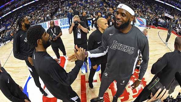 Kyrie Irving and LeBron James