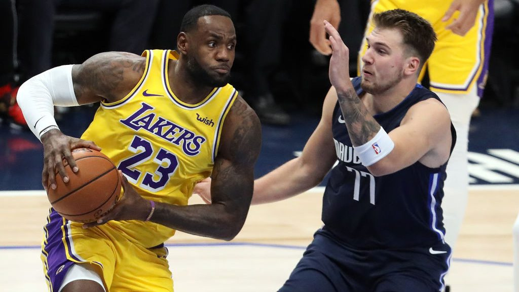 LeBron James and Luka Doncic lead the NBA in All-Star voting