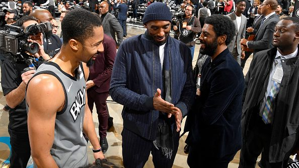 Kobe Bryant, Spencer Dinwiddie and Kyrie Irving