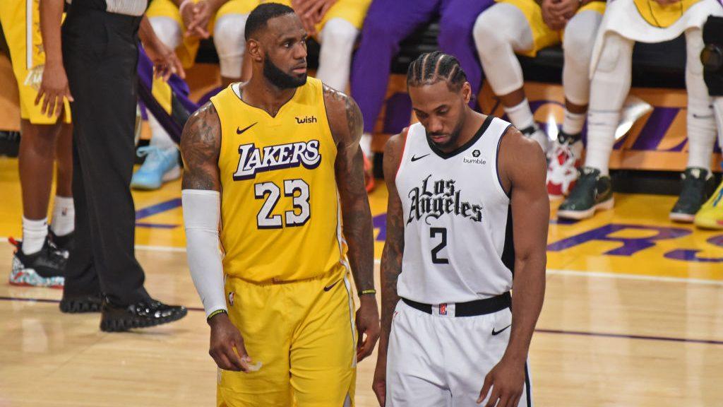 Lakers star LeBron James and Clippers star Kawhi Leonard