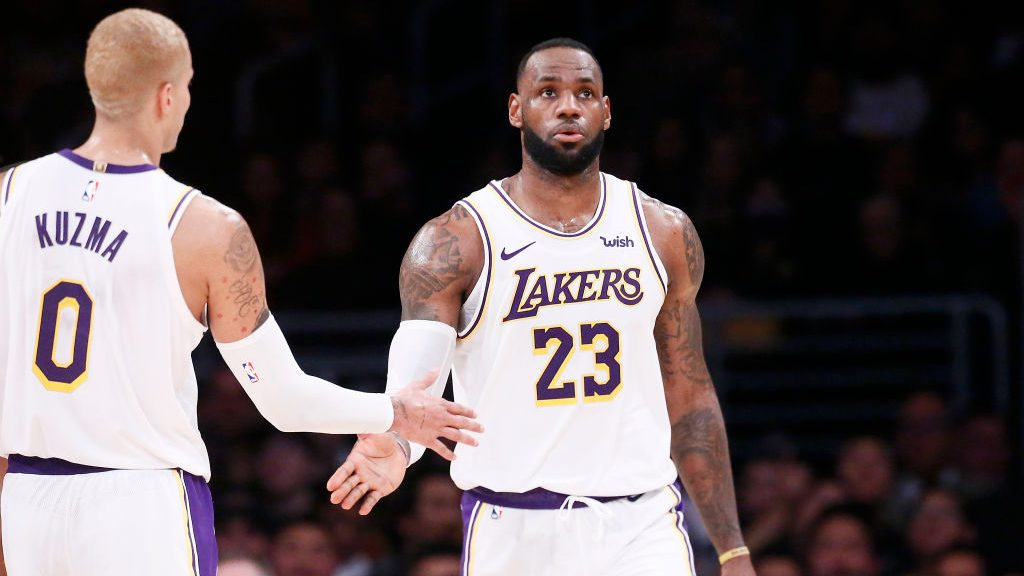 LeBron James and Kyle Kuzma