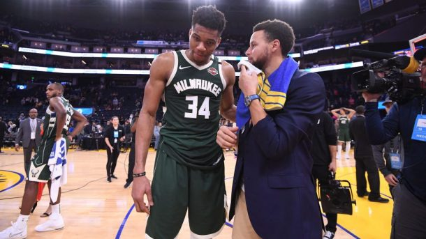 Stephen Curry and Giannis Antetokounmpo