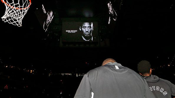 Kobe Bryant tribute at Spurs-Raptors