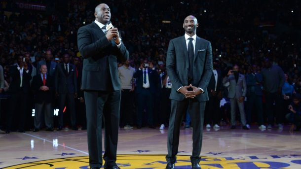 Kobe Bryant and Magic Johnson