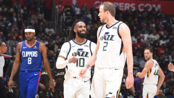 Jazz guard Mike Conley and forward Joe Ingles