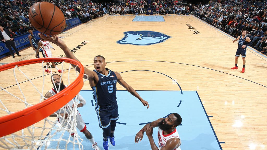 Grizzlies forward Bruno Caboclo vs. Rockets