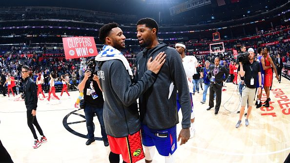 Evan Turner and Clippers forward Paul George