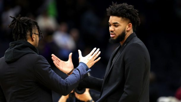 Karl-Anthony Towns and D'Angelo Russell