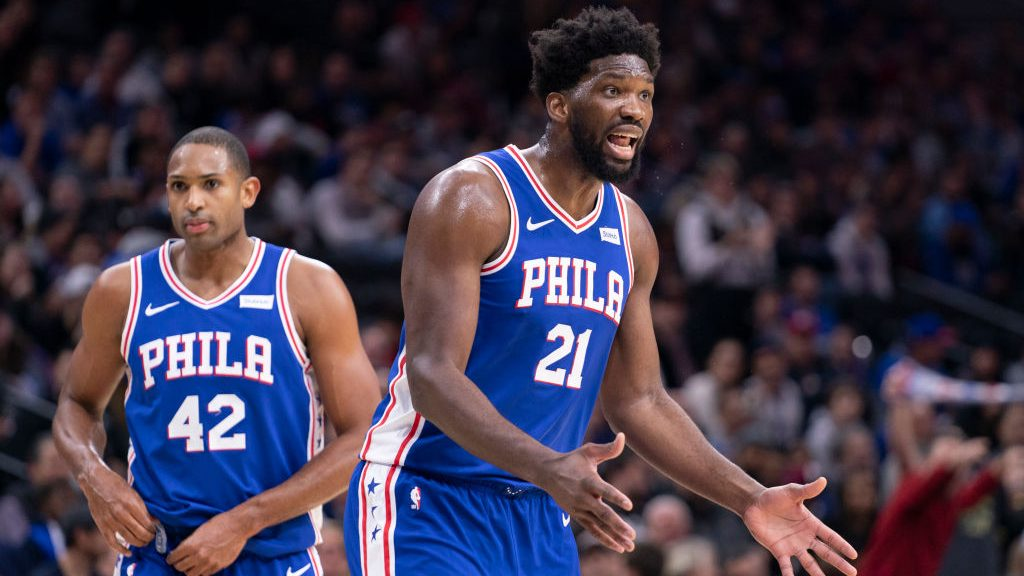 76ers bigs Joel Embiid and Al Horford
