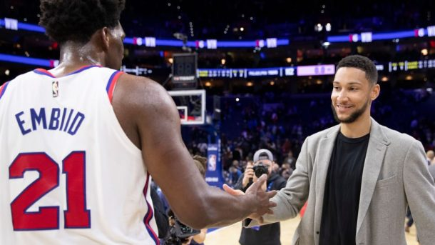 76ers stars Joel Embiid and Ben Simmons