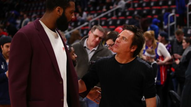 Pistons owner Tom Gores and now-Cavaliers center Andre Drummond