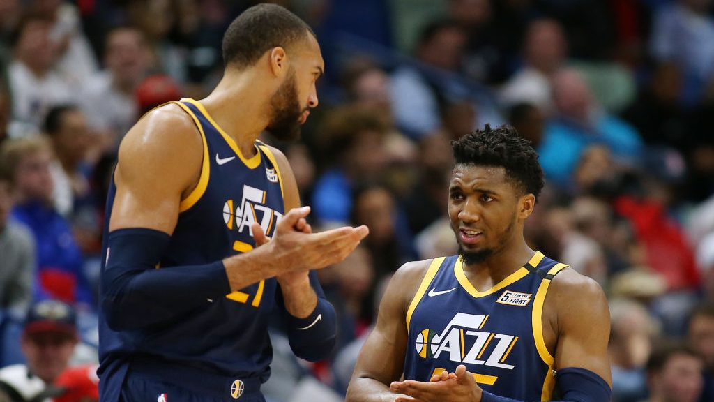 Jazz stars Donovan Mitchell and Rudy Gobert