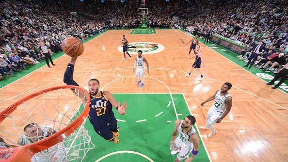 Rudy Gobert in Jazz-Celtics