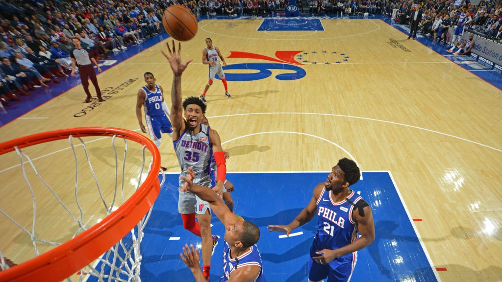 Christian Wood in Pistons-76ers