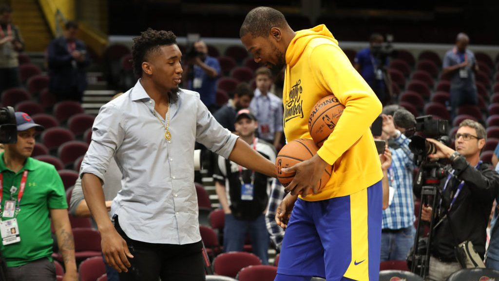 Kevin Durant and Donovan Mitchell