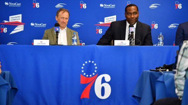 76ers owner Josh Harris and general manager Elton Brand