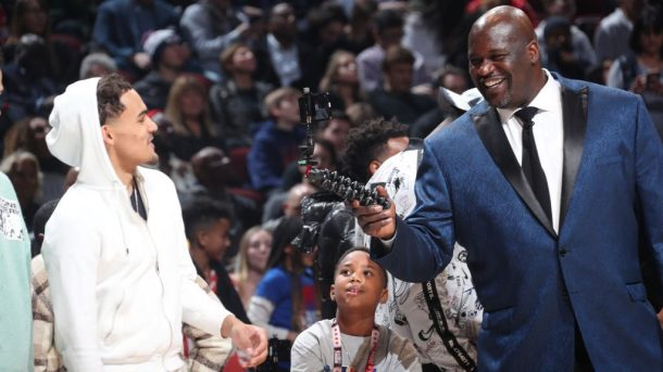 Trae Young and Shaquille O'Neal