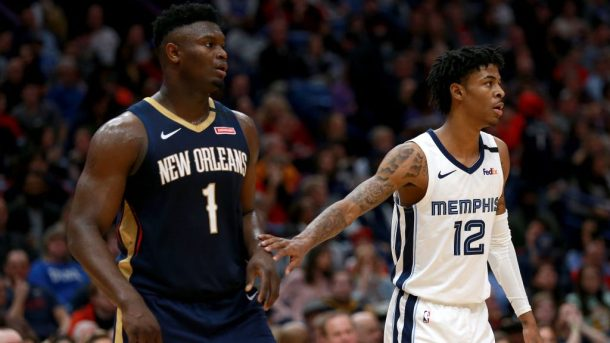 Pelicans rookie Zion Williamson and Grizzlies rookie Ja Morant
