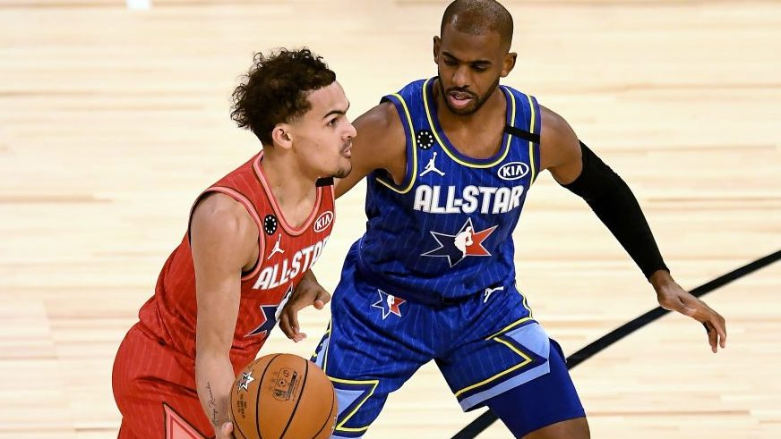 Trae Young and Chris Paul