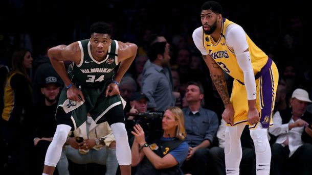 Bucks star Giannis Antetokounmpo and Lakers star Anthony Davis