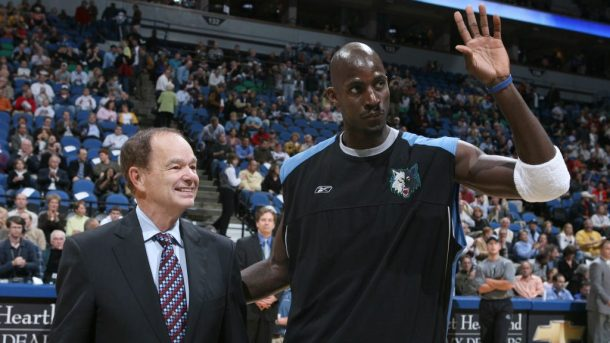 Kevin Garnett and Timberwolves owner Glen Taylor
