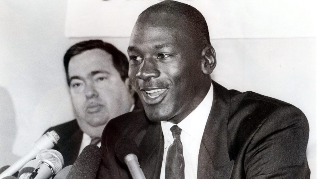 Michael Jordan and Bulls general manager Jerry Krause
