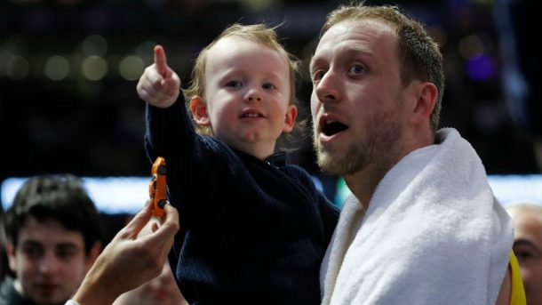 Jazz forward Joe Ingles with son Jacob
