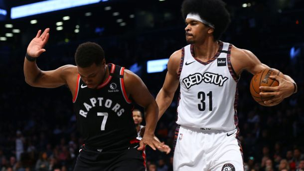 Raptors guard Kyle Lowry and Nets center Jarrett Allen