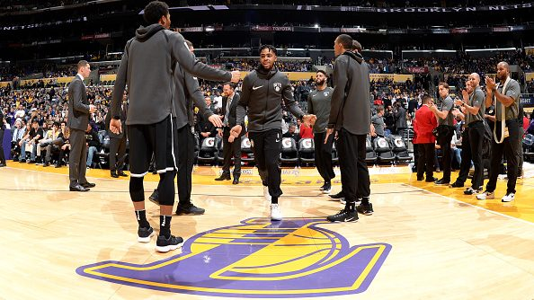 D'Angelo Russell in Lakers-Nets