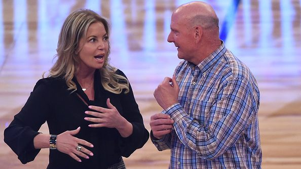 Lakers owner Jeanie Buss and Clippers owner Steve Ballmer
