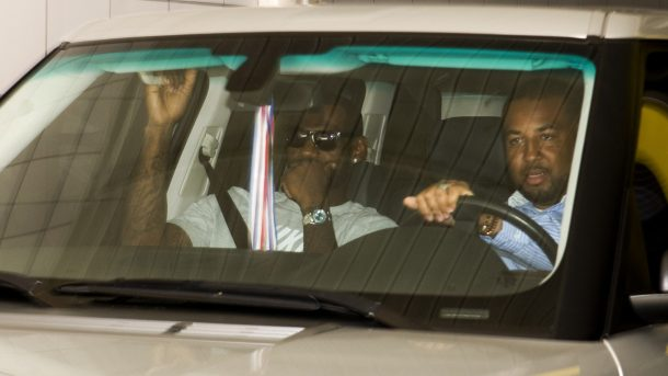 Former Cavaliers star LeBron James after Knicks meeting in 2010