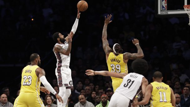 Nets star Kyrie Irving and Lakers center Dwight Howard