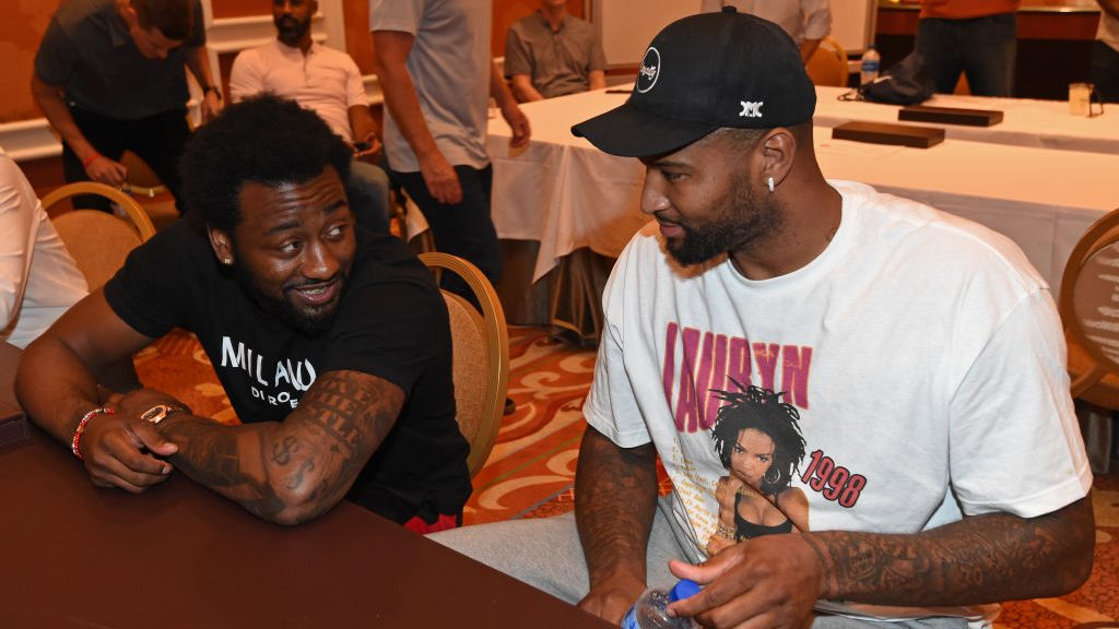 Wizards guard John Wall and DeMarcus Cousins