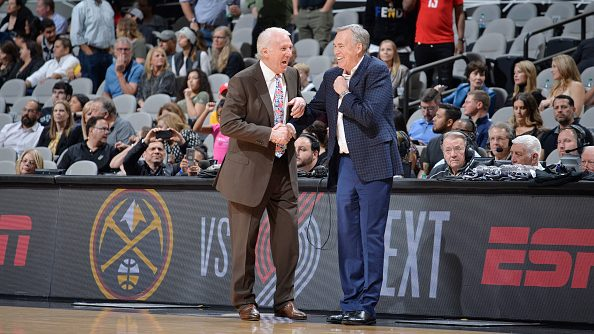 Spurs coach Gregg Popovich and Rockets coach Mike D'Antoni